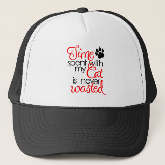 TIme With Cat Trucker Hat
