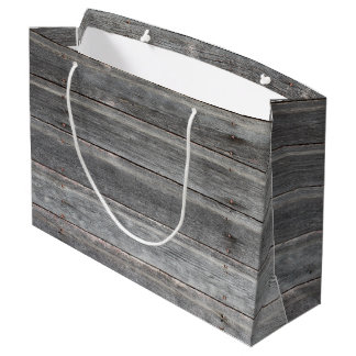 Time-Worn (weathered) Wooden Wall Large Gift Bag