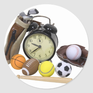TimeForSports062509 Classic Round Sticker