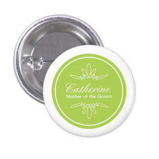 Timeless Charm Wedding Party Name Button - Celery