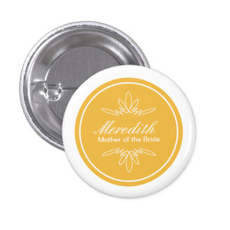 Timeless Charm Wedding Party Name Button - Honey