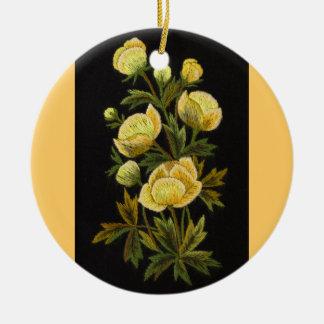 Timeless Globeflower Circle Ornament