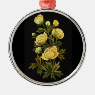Timeless Globeflower Premium Round Ornament