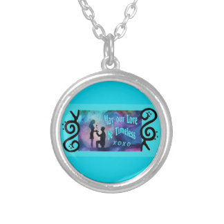 Timeless Luv Silver Plated Necklace