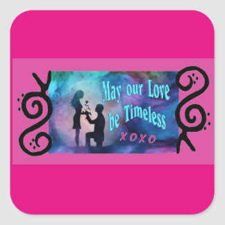 Timeless Luv Square Sticker