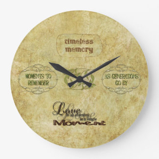 Timeless Memories Vintage Art Wall Clock