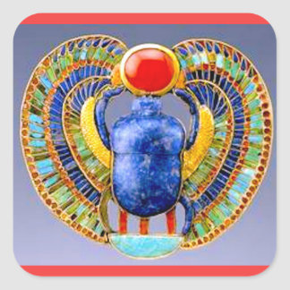 TIMELESS SYMBOL OF ENLIGHTENMENT-THE SCARAB SQUARE STICKER