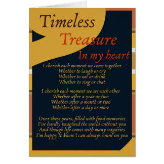 Timeless Treasure Poetry Greeting Card
