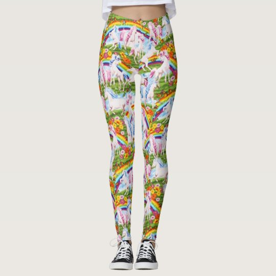 Timeless Treasures Rainbows And Unicorns Leggings