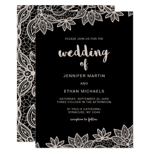 Timeless Wedding Lace Look Card