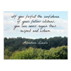 Timely Quote by Abraham Lincoln Postcard