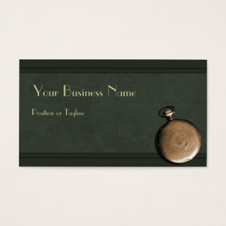 Timepiece Green  Business Card