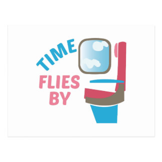 Times Flies By Postcard