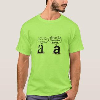 Times New Roman Versus Helvetica T-Shirt