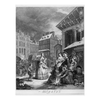 Times of the Day, Morning, 1738 Postcard