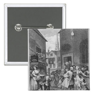 Times of the Day, Noon, 1738 2 Inch Square Button