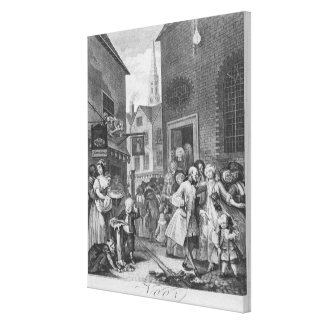 Times of the Day, Noon, 1738 Canvas Prints