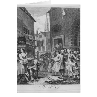 Times of the Day, Noon, 1738 Greeting Card
