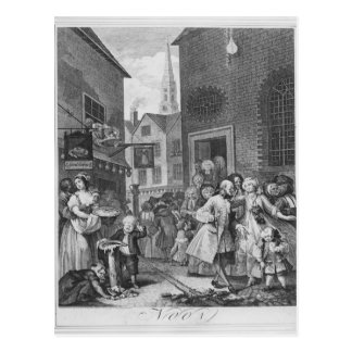 Times of the Day, Noon, 1738 Postcard