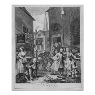 Times of the Day, Noon, 1738 Print