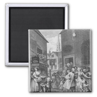 Times of the Day, Noon, 1738 Square Magnet