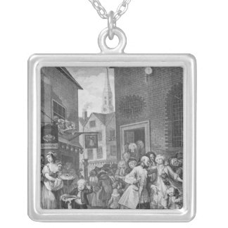 Times of the Day, Noon, 1738 Square Pendant Necklace