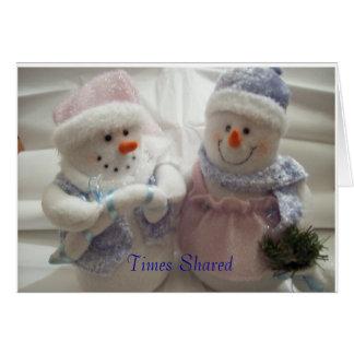 Times Shared Make Wonderful Memories Card