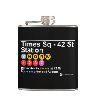 Times Square - 42 Street Hip Flask
