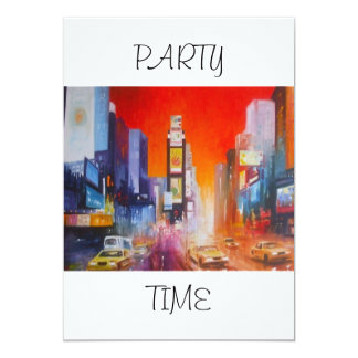 Times Square America Party Time Invitation