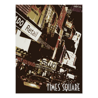 Times Square Artistic Poster