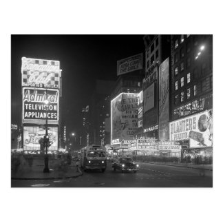 Times Square at Night, 1953 Postcard