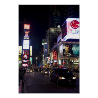 Times Square at night in Manhattan, New York Poster