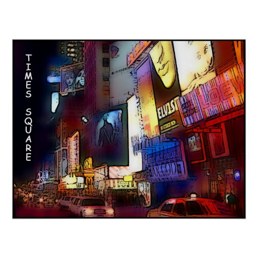 Times Square at Night, large poster