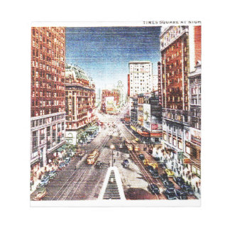 Times Square at Nigth Vintage Print Notepads