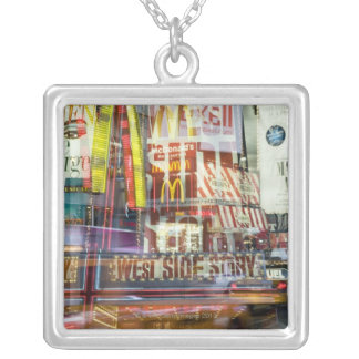 Times Square at Twilight Silver Plated Necklace