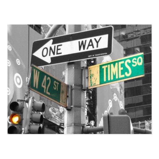 Times Square B&W Postcard