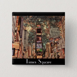 Times Square, New York City 2 Inch Square Button