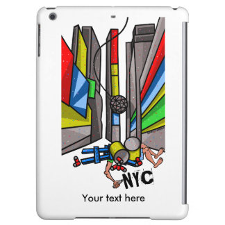Times Square New York City Funny Cartoon Case For iPad Air