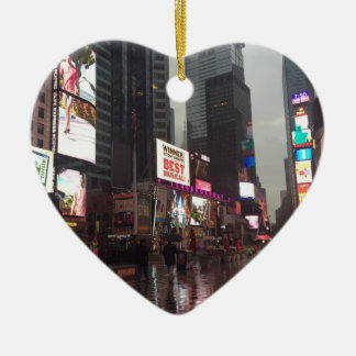 Times Square New York City NYC Neon Signs Photo Ceramic Ornament