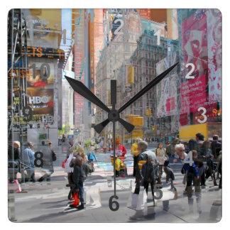 Times Square NY. Square Wall Clock