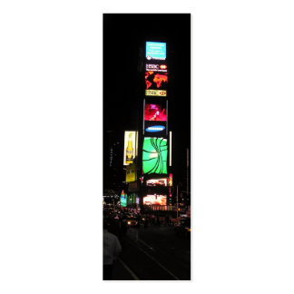 Times Square-NYC 2 Bookmark Mini Business Card