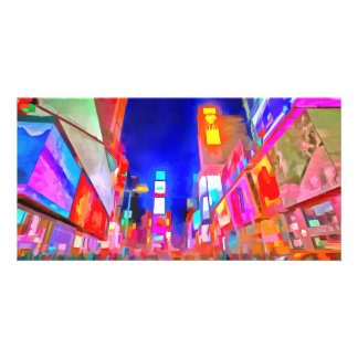 Times Square Pop Art Card