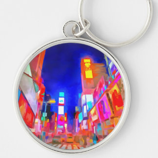 Times Square Pop Art Keychain