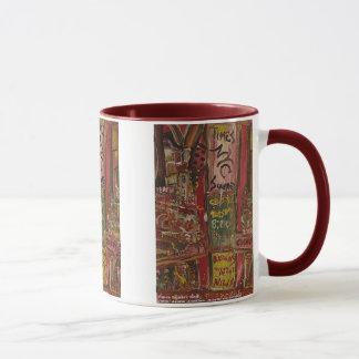 times square red mug