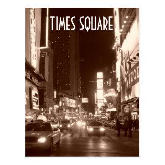 Times Square sepia Postcard
