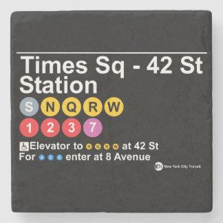 Times square station stone coaster