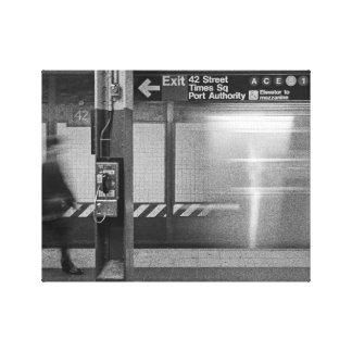 Times Square Subway Canvas Print