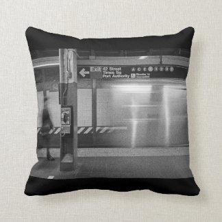 Times Square Subway Throw Pillow