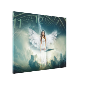 Time's Up Angel Wings Woman No More Harassment Canvas Print