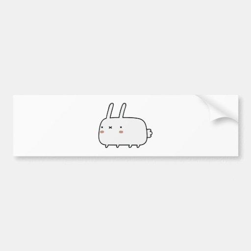 Timid Rabbit Bumper Stickers